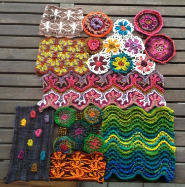 Color work in knitting and crochet using white with colors