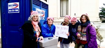 Wearing Pussyhats at Washington Women's March