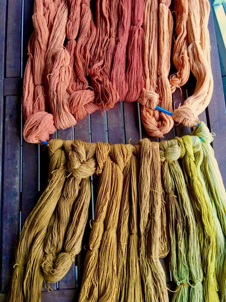 Avocado dye, maple hull dye, brown maple leaf dye, red maple leaf dye