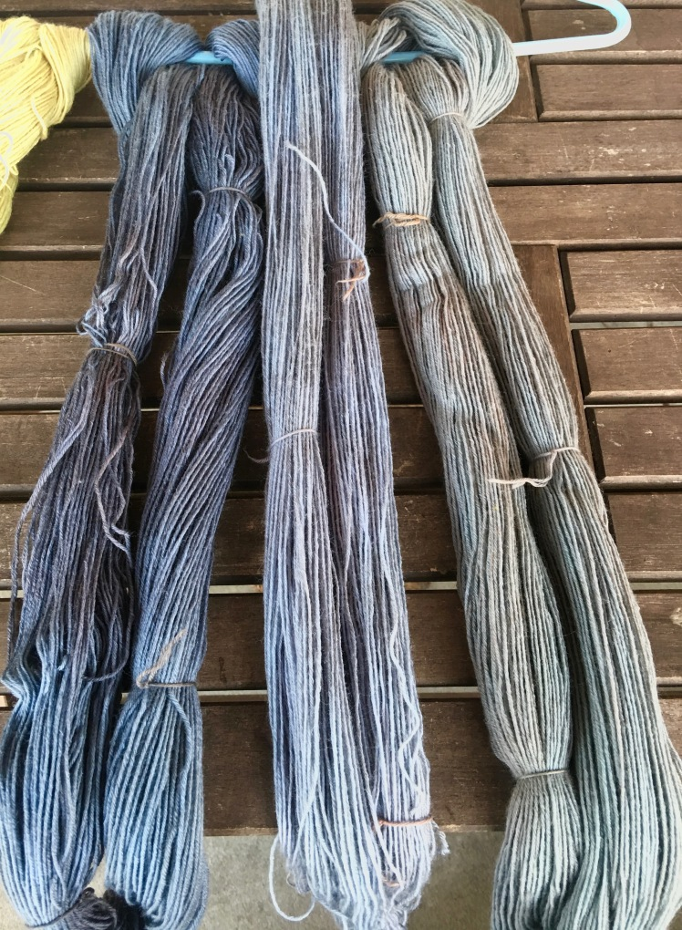 Three dyeings of black bean bath