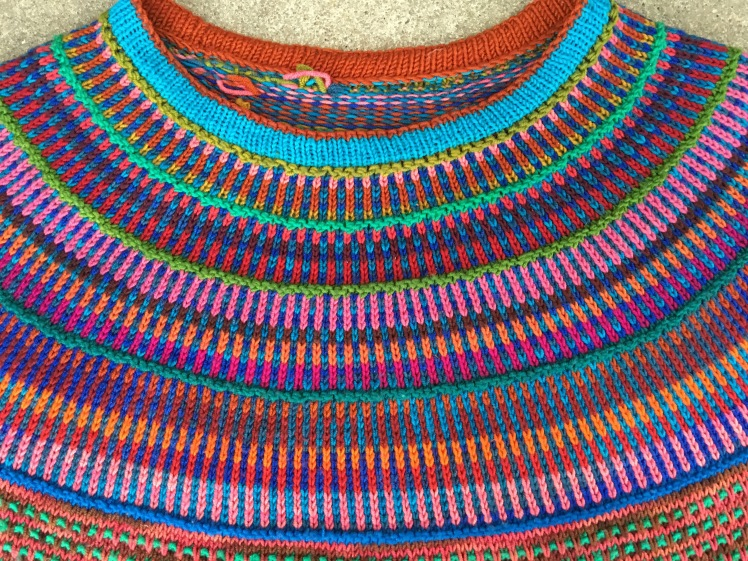 Close-up of Reis pullover yoke