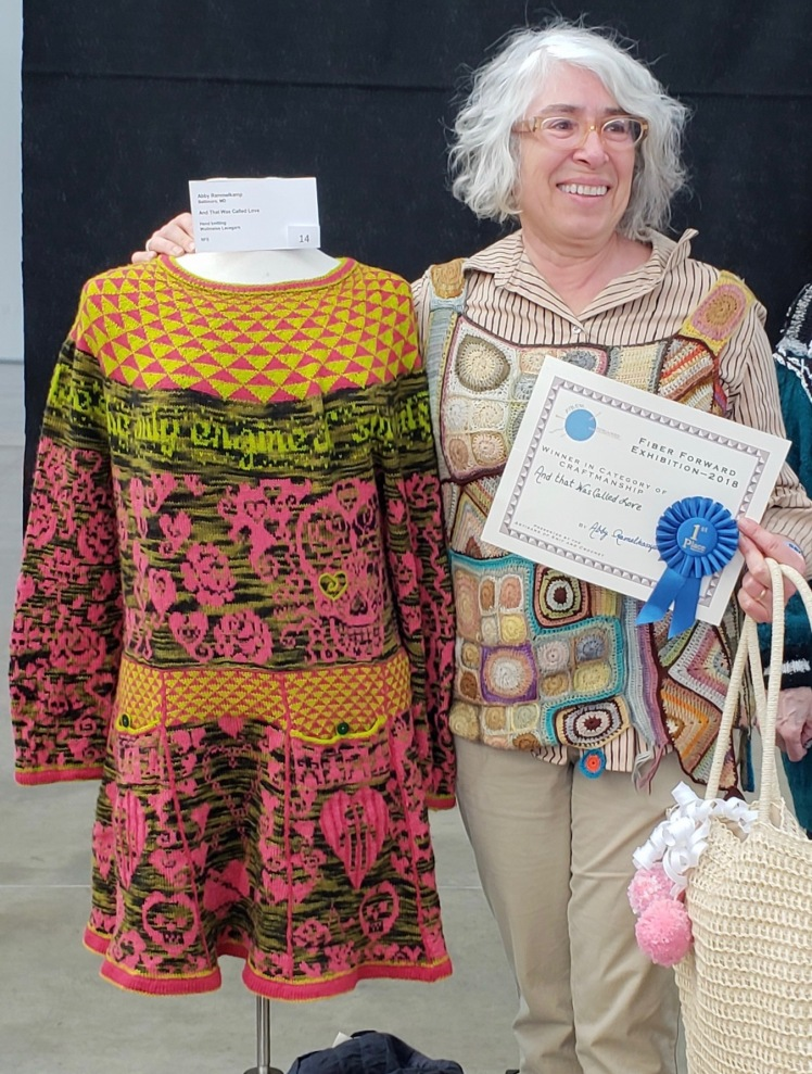 Awards ceremony at Pittsburgh Fiber Forward juried exhibition