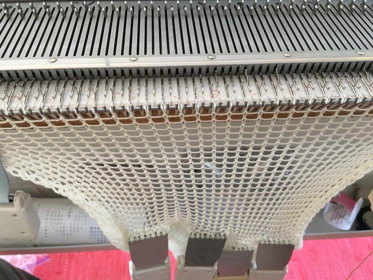 Machine knit sock blank
