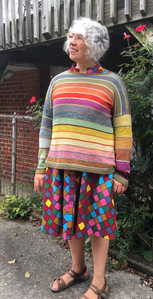 Modeling Milano-inspired pullover