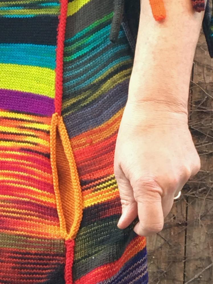 Detail of side seam pocket