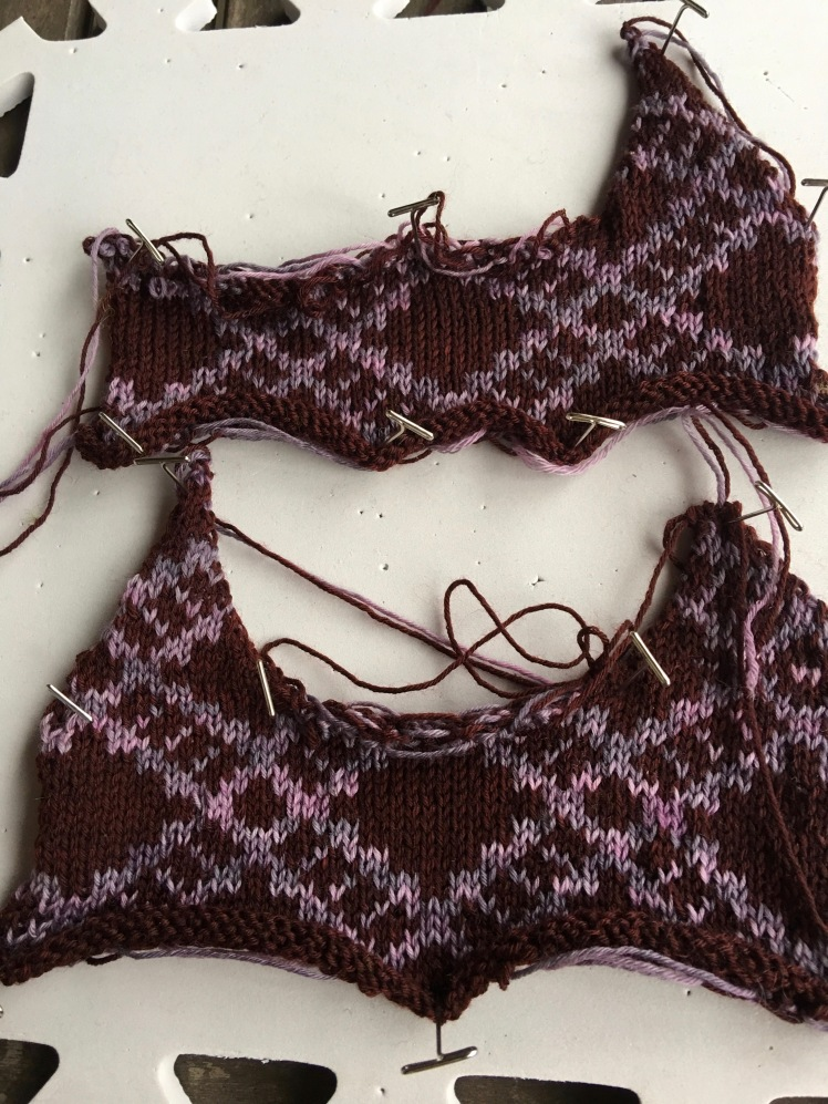 Machine-knit fairisle experiments