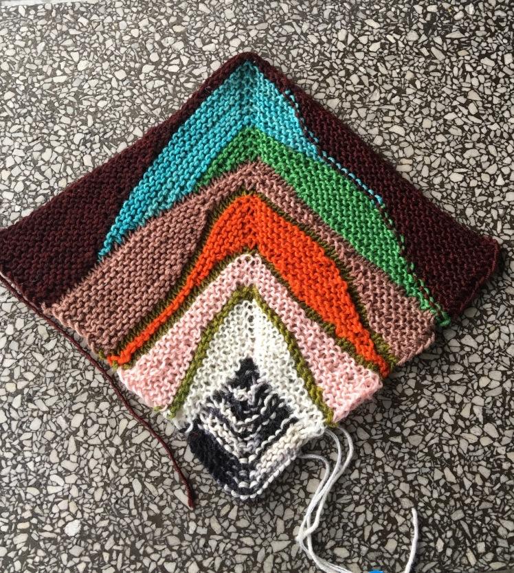 Swing-knitting swatch