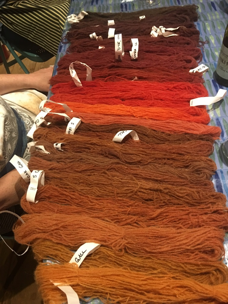 25 colors from one madder dye bath