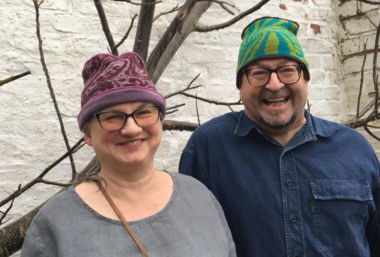 Modeled machine-knit hats using preprogrammed fairisle patterns